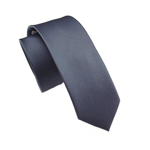 Elviros modische schmale einfarbige Herrenkrawatte für Business und Alltag 6cm