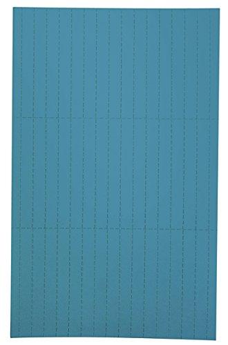 Legamaster 7-455403 Einlegeetiketten für Legamaster Etikettenträger, perforiert, 90 Stück, 20 x 60 mm, blau
