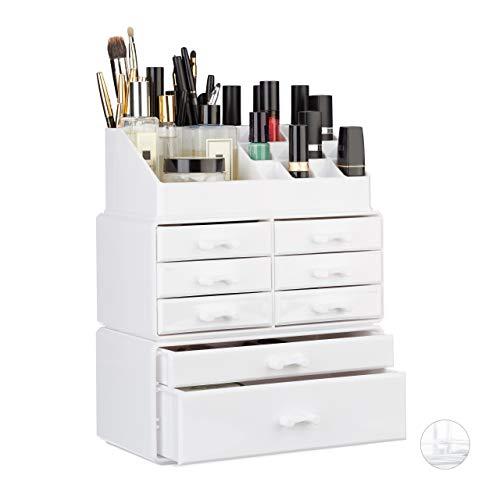 Relaxdays Organizador Maquillaje con Cajones
