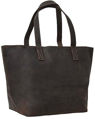 """Gusti Cuir studio - Sac cabas """"Ashley"""" Sac à main ou à bandoulière Grand sac shopping vintage femme en cuir de buffle Marron foncé 2H46-26-54"""