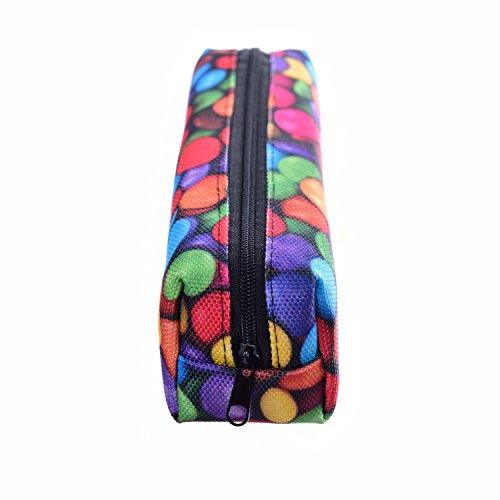 Kukubird Tribal Elefante Primavera/estate Floreale Print Zip Scuola Uni Matita Caso Candy