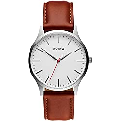 MVMT Watches 40 Series Men's Watch Silver/Natural Leather MT01SNL