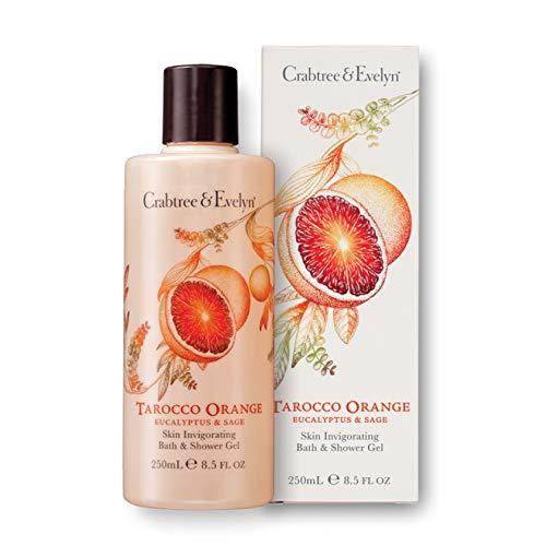 Crabtree & Evelyn Tarocco orange, Eucalyptus und Sage Skin Invigorating Bath und Shower Gel, 1er Pack (1 x 250 ml)