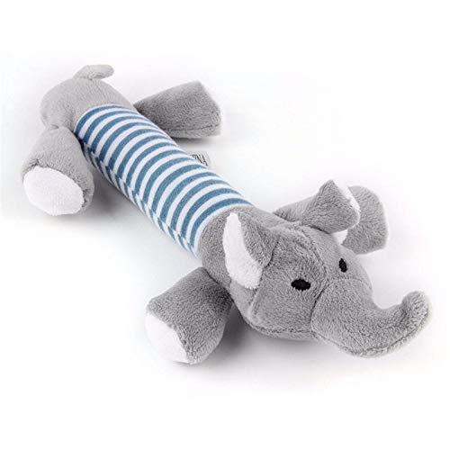 Tolyneil Hundespielzeug mit Quietschelement, Schwein, Elefant, Spielzeug für Hunde