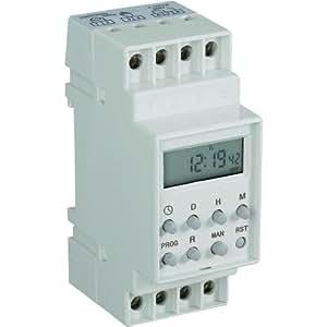 Programmateur horaire pour rail DIN 198520 numérique 230 V/AC 16 A/250 V 1 pc(s)