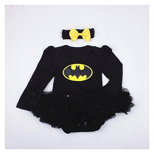 Batgirl Set Kostüm ML 3bis 24Monate 0/3Monate, 6/9Monate, -