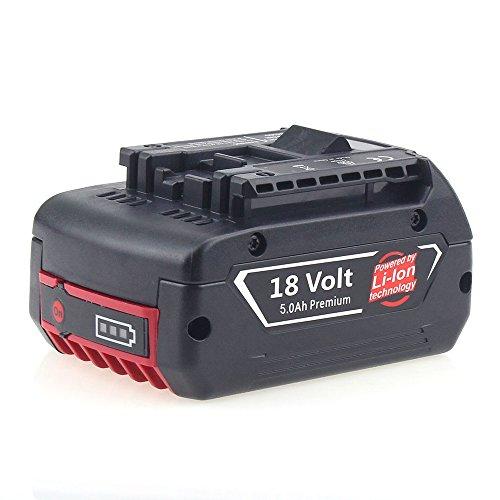 Reoben für Bosch 18V Akku 5.0Ah Li-Ion Professional Ersatz-Akku BAT609 BAT620 BAT622 BAT618 DDB181-02 (5 Ah-akku)