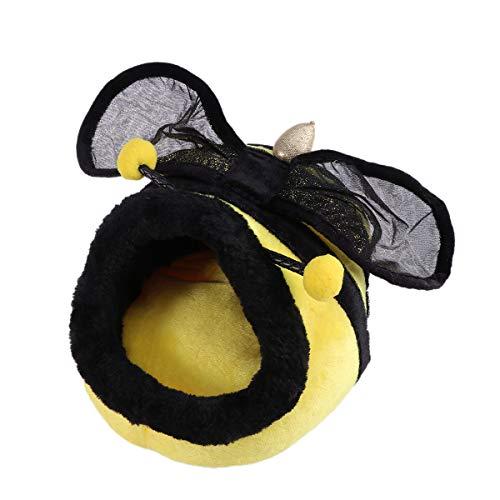 (POPETPOP Bee Shape Cat Warm Bed Haus Kennel Pet Puppy Nest Shell Bett - Größe L (Gelb))