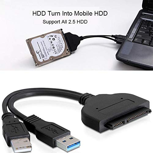 Dandeliondeme 480MB/Sek. Festplattenlaufwerk SATA 7+15-polig 22 zu USB 2.0 Adapterkabel für 2,5 HDD Laptop unterstützt 7200 U/min HDD -