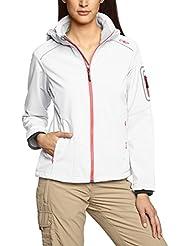 CMP 3A05396 - Chaqueta Softshell para mujer, color blanco (b.co/metal), talla 40