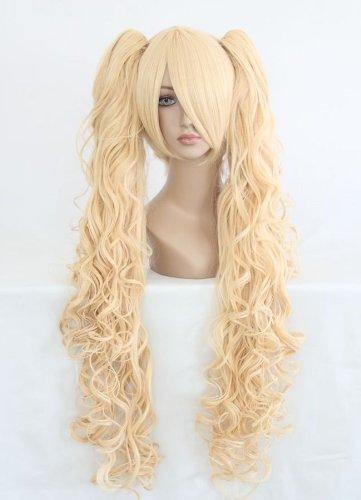 (Perücke Goldblond Lichtblond ca. 80cm lang für Lolita Cosplay oder Schaufensterpuppen Karneval oder Mottoparties)