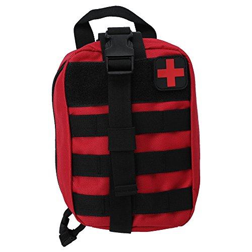 Alomejor Erste Hilfe Tasche EMT Medical Erste Hilfe Utility Pouch Leer Medizinische Tasche für Notfall Reisen Camping Wandern Radfahren Outdoor(Rot) (Medizinische Notfall Tasche)
