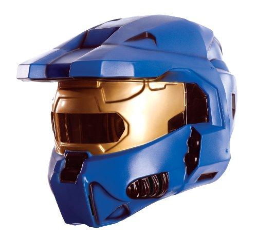 Rubie's Costume Co Halo Blauer Spartaner Kostüm zweiteilige Maske für Erwachsene (Spartaner Blauer Kostüm)