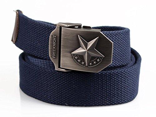 ALAIX Herren belt Military-Look 3,8 cm breit verstellbar Automatik- guertel canvas B1126