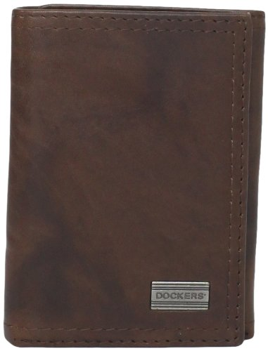 dockers-mens-extra-capacity-trifold-wallet-brown-one-size