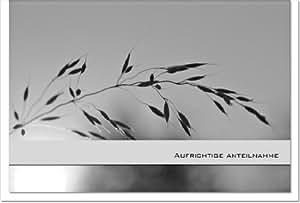 MetALUm Carte de condoléances sobre avec éléments décoratifs métallisés et inscription en allemand Sans texte à l'intérieur