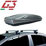 Barres de Toit pour Coffre de Voiture Compatible avec Volkswagen Golf V 3P 03-07 Toit G3 Porte-Bagages Fixation spécifique Bagages Coffre de Toit 480 L