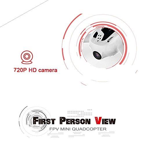 Ollivan® Hubsan X4 Plus H107D + Aktualisierte Version FPV Quadcopter 2.4GHz + 5.8GHz 6-Achsen 720P Kamera mit 4 LED Leuchten Nacht RTF Video Übertragung(Hubsan H107D+) - 6