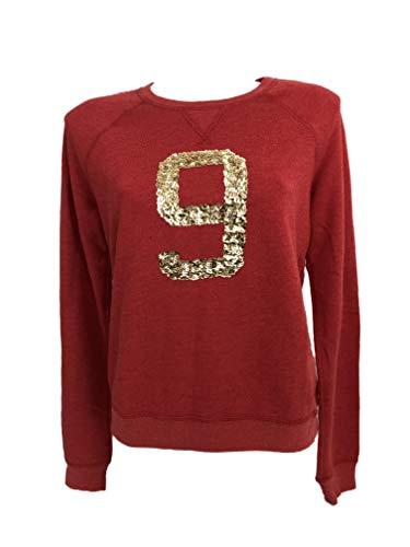 Abercrombie & Fitch Damen Sweatshirt, Rot L (Damen Sweatshirt Abercrombie)