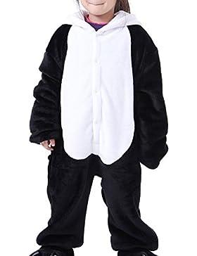 Cliont Animales de los niños Onesie Panda pijama de la ropa de noche de Navidad Kigurumi niño del traje del Anime...
