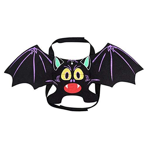 NiQiShangMao Lustige Katzen Cosplay Kostüm Flügel Halloween Haustier Katze Fledermaus Kostüm Fit Party Hunde Kleidung zu - Geheimnis Katze Kostüm