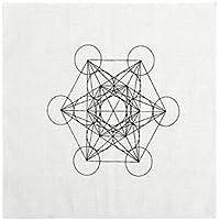 JOVIVI Gedruckte Metatrons Würfel Cube Heilige Geometrie Kristall Grid Altar Tuch Yoga Tuch 35 x 35cm preisvergleich bei billige-tabletten.eu