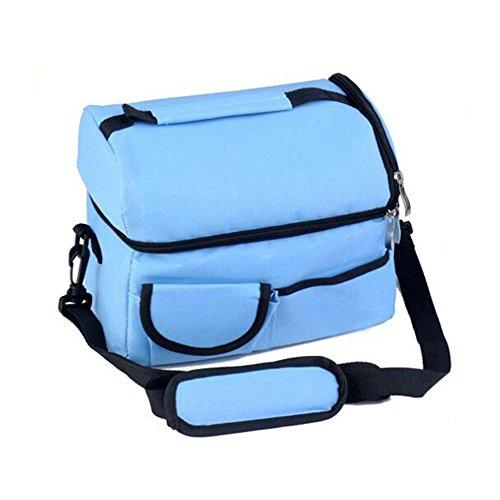 Meijunter Women Men Bambini Lunch Picnic Carry Tote Conservazione Borsa Lunch Box Portable Impermeabile HandBorsa Insulated/Refrigeratore Lake Blue