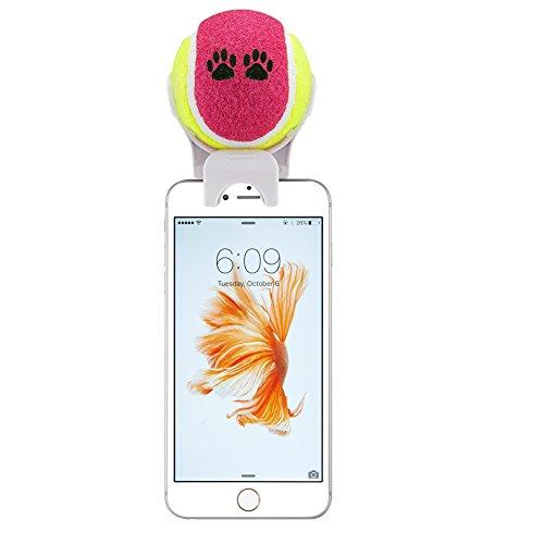 E-PLG Befestigung/Selfie-Stick für Smartphones um Fotos mit Haustieren zu machen – Selfie-Stick für Haustiere – Geschicklichkeitstraining für Haustiere – Spielzeug für Haustiere (weißer Selfie-Stick)