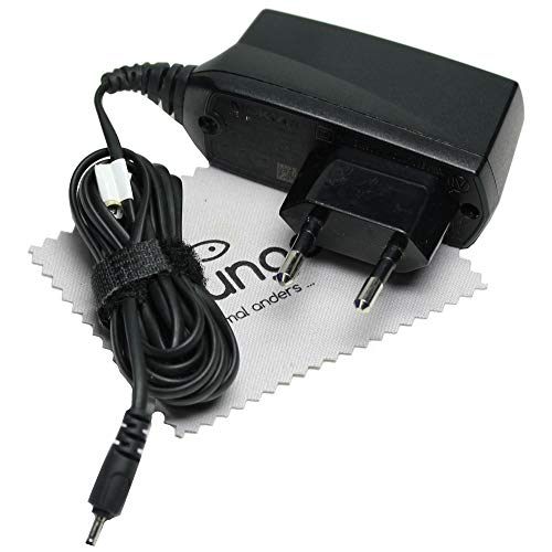 Nokia AC 4originale caricatore da viaggio cavo di ricarica per Nokia 100, 101, 105, 106, 109, 110, 111, 112, 113, 1200+ GRATIS mungoo® Panno pulisci schermo