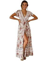 192ff2fe71 Amazon.es  vestidos blanco playa - Rosa   Vestidos   Mujer  Ropa