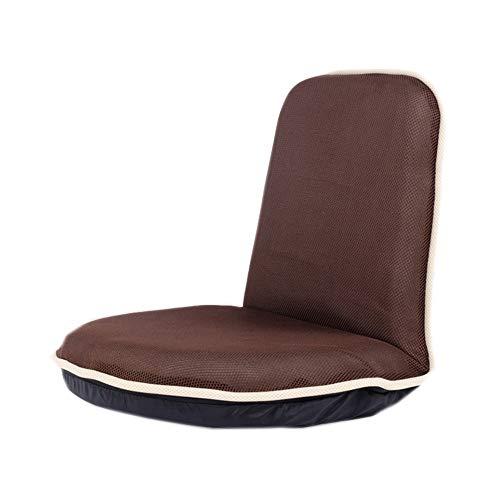 JUN Im japanischen Stil Tatami Lazy Sofa Single Stoff Verstellbarer Stuhl Home Simple Sitzkissen Beige Braun 51 × 48 × 50 cm (Color : Brown) -