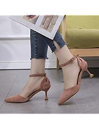 b3c10a28 Yukun zapatos de tacón alto Moda de Primavera Boca Baja Dama Estilo Tacones  Altos Hembra Estilete