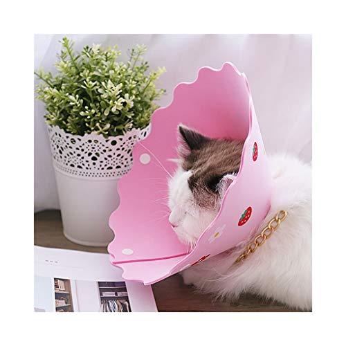 ger Schützender Halskragen-E-Kragen Zur Heilung Von Wunden Bei Hunden Kätzchen Katzen Kaninchen Haustiere, 1 Stck (Farbe : Rosa, größe : Xs) ()