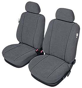 ZentimeX Z927718 Sitzbezüge Vordersitze Stoff grau Airbag-Kompatibel