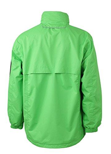James & Nicholson Men's Windbreaker lime-green/carbon