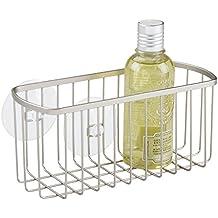 mDesign mensola doccia da appendere - portaoggetti senza montaggio - cestino per la doccia in metallo ideali per lo shampoo, il bagnoschiuma, ecc.
