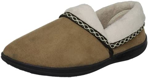 Padders Mellow Camel Fleece and Fur Lined 460 5 UK, Chaussons femmes - Chameau, 38