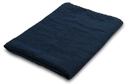 Leinenhandtuch, dunkelblau, 100% Leinen, 50cm x 68cm