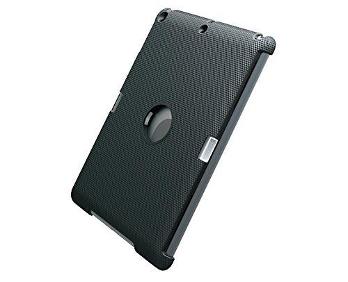 Meliconi Circle Click System Custodia per iPad Air 1/2 con Supporto Fisso da Muro e Anello per Presa con Mano, Nero/Antracite