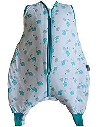 Schlummersack Schlafsack mit Füßen aus Bambus-Musselin für den Sommer ungefüttert in 0.5 Tog in verschiedenen Größen und Designs erhältlich
