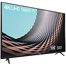 TCL 43DP628 43 Inch UHD 4K TV, HDR10 and HLG, Modern Design with Freeview Play - Works with Alexa (2018/2019 Model) - Black