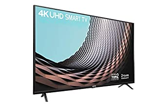 """TCL 43DP628 43"""" Smart TV - 2 Year Warranty,4K HDR10 & HLG (Stream Freeview Play / BBC iPlayer / Netflix 4K / YouTube 4K) ,Work with Alexa, Wi-Fi ,2*HDMI, 1*USB Port [Energy Class A+] Black (B07GT9D8VX) 