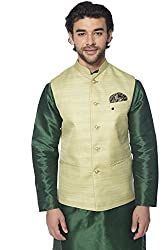 Mohanlal Sons Mens Cotton Nehru Jacket (ST-659-6-L.GREEN-AC-53-18 -40)