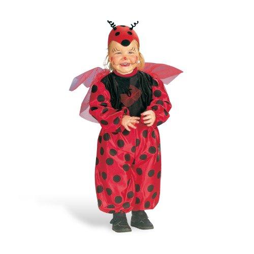 Fasching Kostüm Marienkäfer für Kinder mit Flügeln, gepunkteter Overall ab Gr. 92 Karneval rot schwarz - (Kostüme Flügel Marienkäfer)