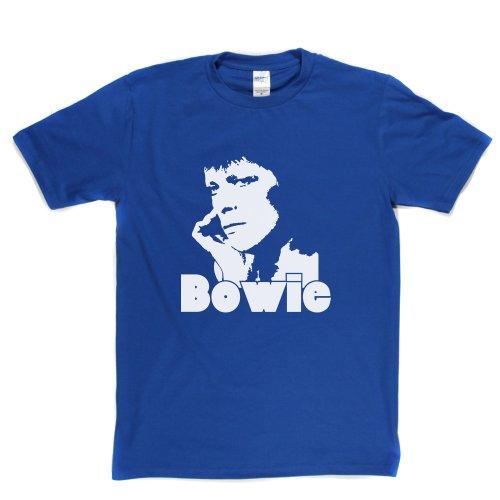 David Bowie 1 English Singer Space Oddity T-shirt Königsblau