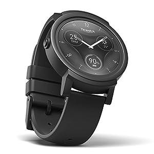 Ticwatch E Shadow, el Reloj Inteligente más cómodo, Pantalla OLED DE 1,4 Pulgadas, Android Wear 2.0, Compatible con iOS y Android, Lleva una Vida organizada