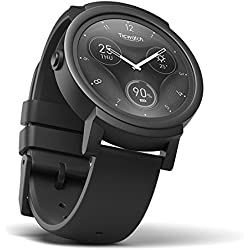 Ticwatch Reloj Inteligente Smart Watch Pantalla Táctil de OLED 1.4 Pulgada Compatible con iOS y Android Sistema Android Wear 2.0 Lleva Una Vida Organizada Color Negro