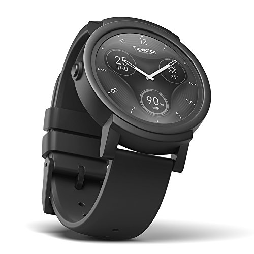 TicWatch E Shadow Smartwatch Intelligente Armbanduhr mit 1,4 Zoll OLED-Display, Android Wear 2.0 (Iphone 5 Fall Urban)