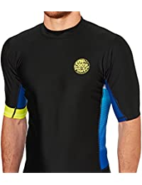 2016 Rip Curl Aggrolite Relaxed S/S Rash Vest in Lime WLE8BM