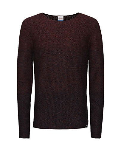 JACK & JONES Herren Pullover Jorswing Knit Crew Neck Camp Rot (Syrah Fit:KNIT jorSWING)
